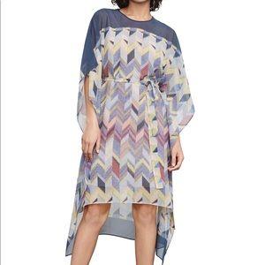 BCBG MaxAzria Suzy silk chevron print dress